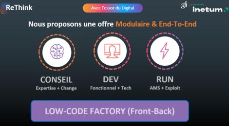 Low Code Factory Modulaire & E2E